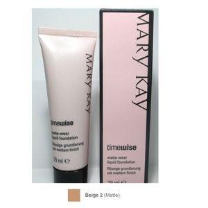 NEW Mary Kay Matte-Wear Liquid Foundation Beige 2